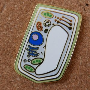Plant Cell Enamel Pin